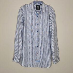 English Laundry Blue100% Cotton Dress Shirt Size L